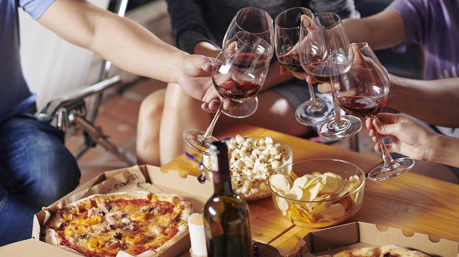 take away pizza y vino marques de teran